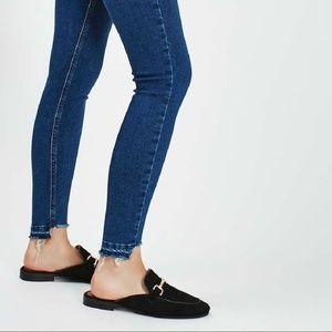 Rachel Roy Uneven Raw Hem Skinny Jeans